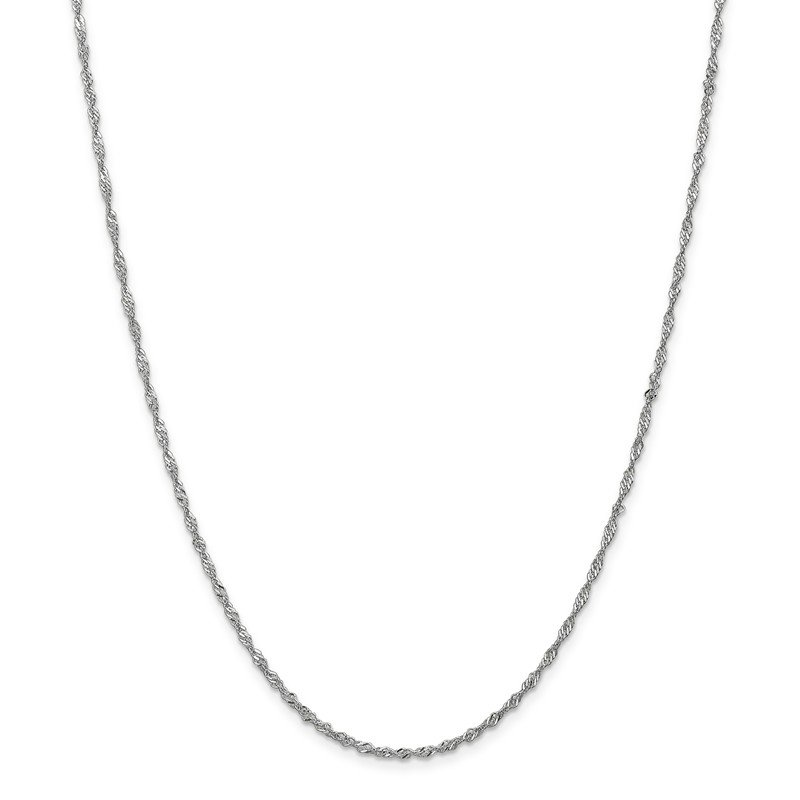 Leslie's Leslie's 10K White Gold 1.7 mm Sparkle Singapore Chain