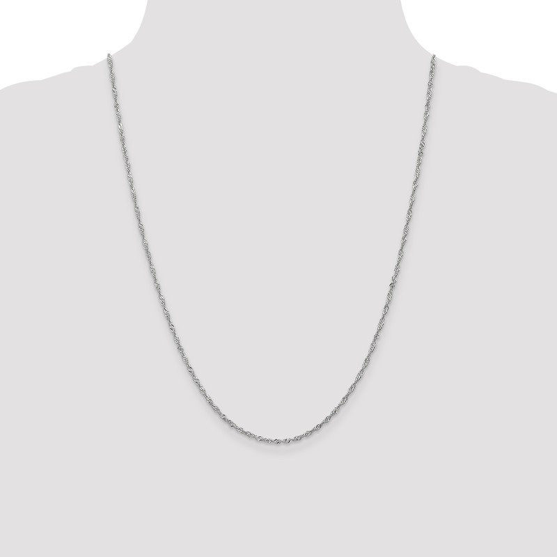 Leslie's Leslie's 10K White Gold 1.7mm Singapore Chain