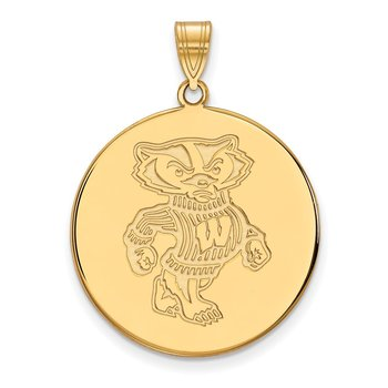 Gold University of Wisconsin NCAA Pendant