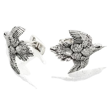 Dove Cufflinks - Pair - Sterling Silver