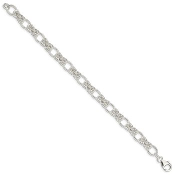 Sterling Silver Polished Fancy Link Bracelet