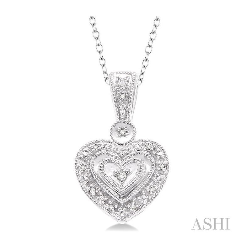 Crocker's Collection silver heart shape diamond pendant