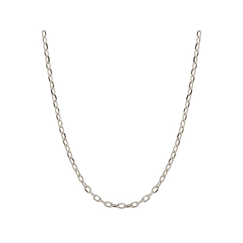 Tesoro 14k White Gold Chain