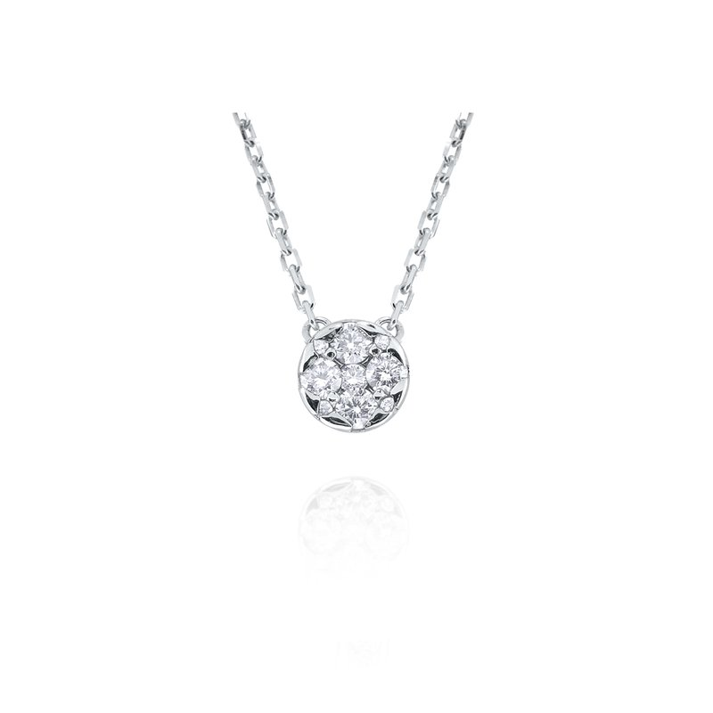 KC Designs 14K Diamond Cluster Necklace