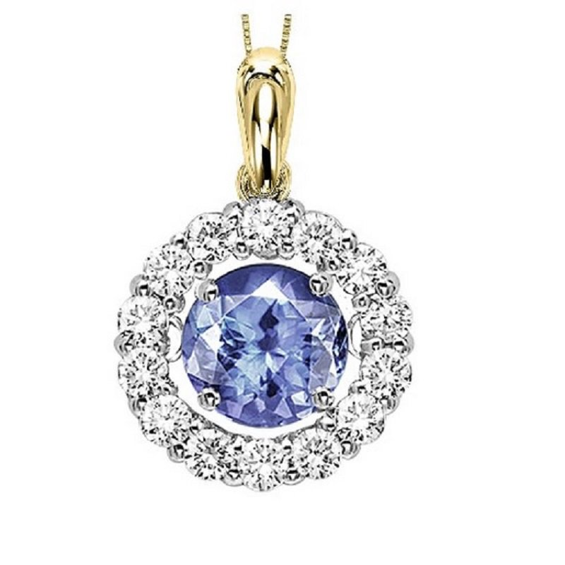 Rhythm of Love 14K Tanzanite & Diamond Rhythm Of Love Pendant