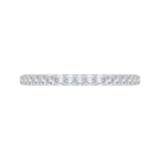 Carizza 14K White Gold Round Diamond Half-Eternity Wedding Band