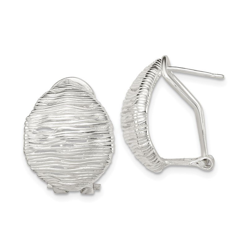Quality Gold Sterling Silver Omega Back Earrings