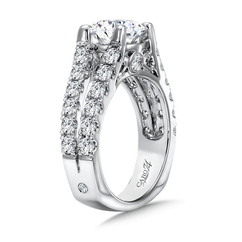Grand Opulance Collection Diamond Split Shank Engagement Ring in 14K White Gold with Platinum Head (2ct. tw.)