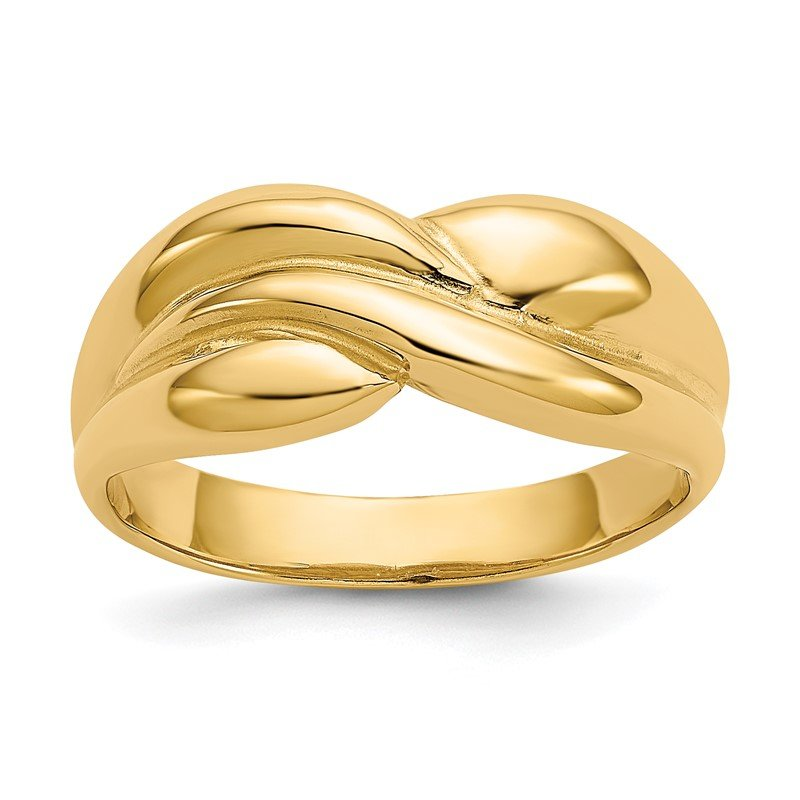 Quality Gold 14k Polished Twisted Dome Ring