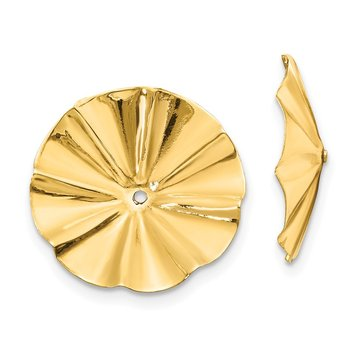14k Polished Fancy Earring Jackets