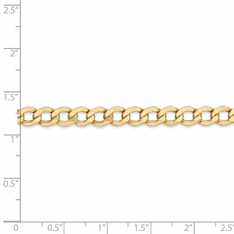 Leslie's Leslie's 14K 5.25mm Semi-Solid Curb Link Chain
