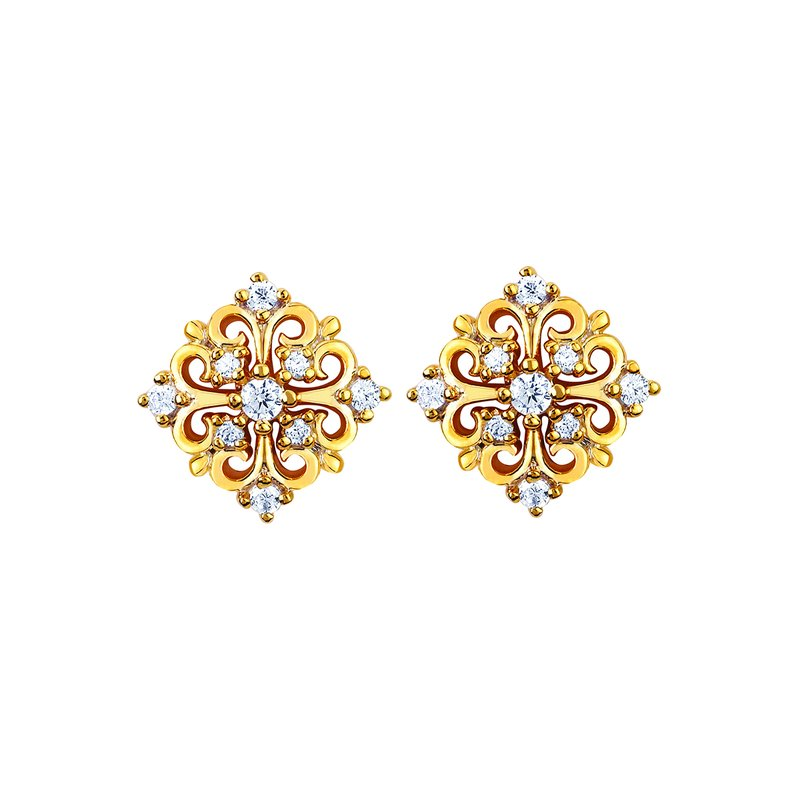 Ostbye Earrings Rd V 0.156
