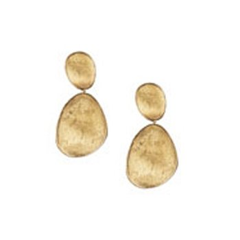Lunaria Gold Large Double Drop Earrings