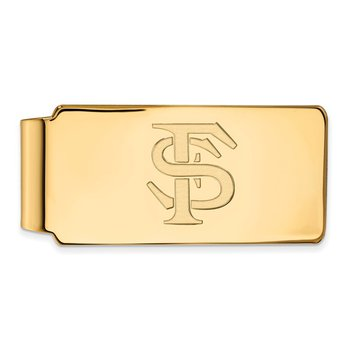 Gold-Plated Sterling Silver Florida State University NCAA Money Clip