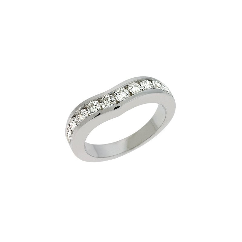 S. Kashi & Sons Bridal V Shape White Gold Band