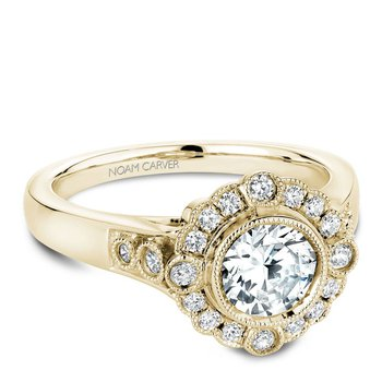 Noam Carver Floral Engagement Ring B091-01YA