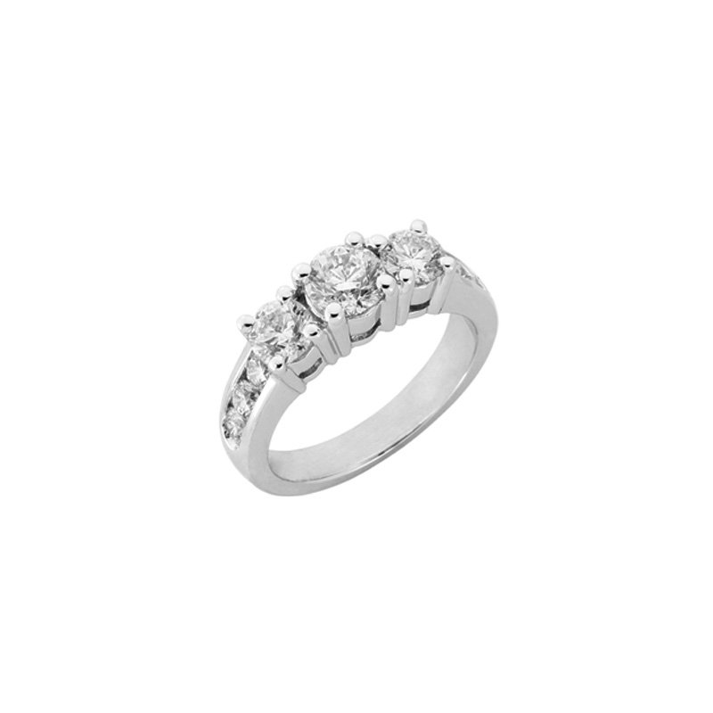 S. Kashi  & Sons White Gold Three Stone Ring
