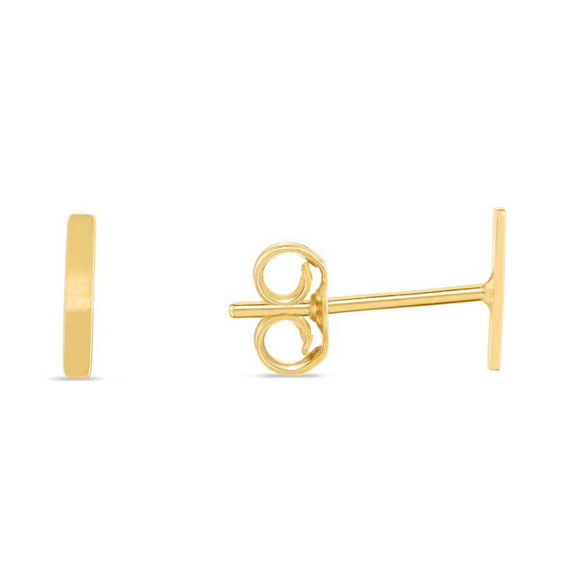Royal Chain 14K Gold Initial I Stud Earring