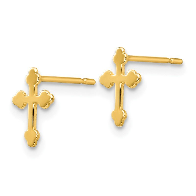 Quality Gold 14k Madi K Children's Cross Post Earrings