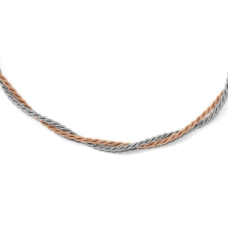 Leslie's Leslie's Sterling Silver Rose Gold-tone with 2in ext. Necklace