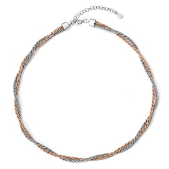 Leslie's Sterling Silver Rose Gold-tone with 2in ext. Necklace