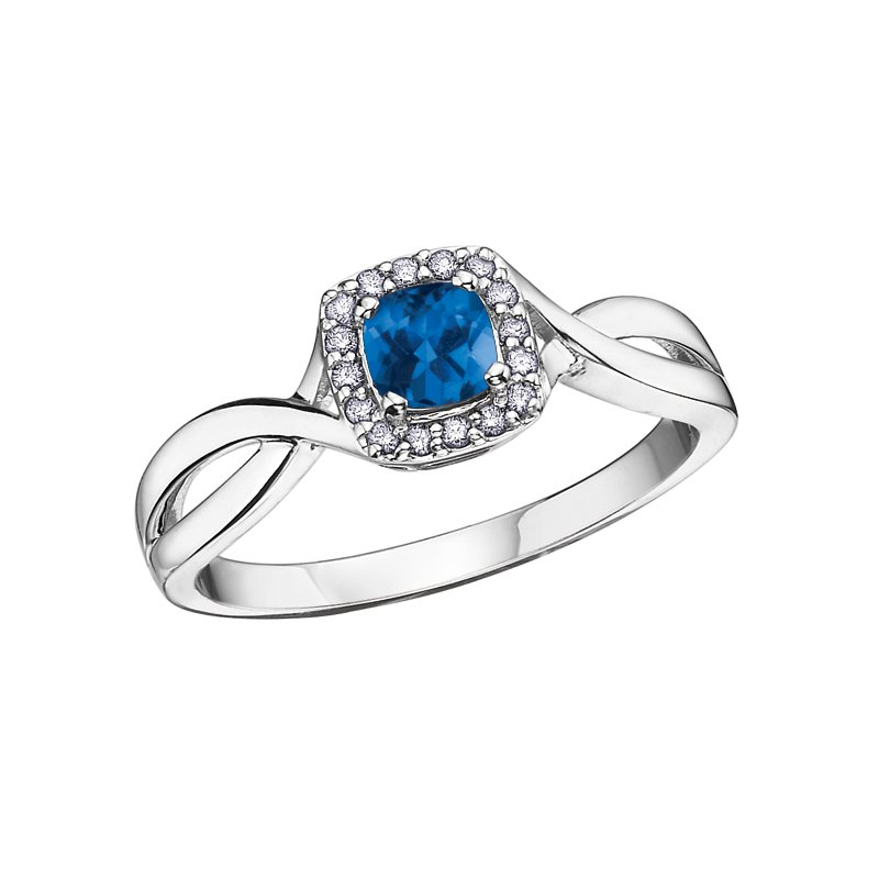 Diamond Days Birthstone & Diamond Ladies Ring