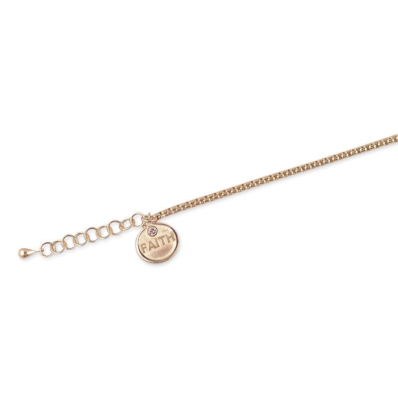 ALOR Rose Chain Faith Affirmation Bracelet