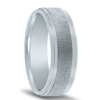 N17208 - Men's Wedding Band with Organic Finish