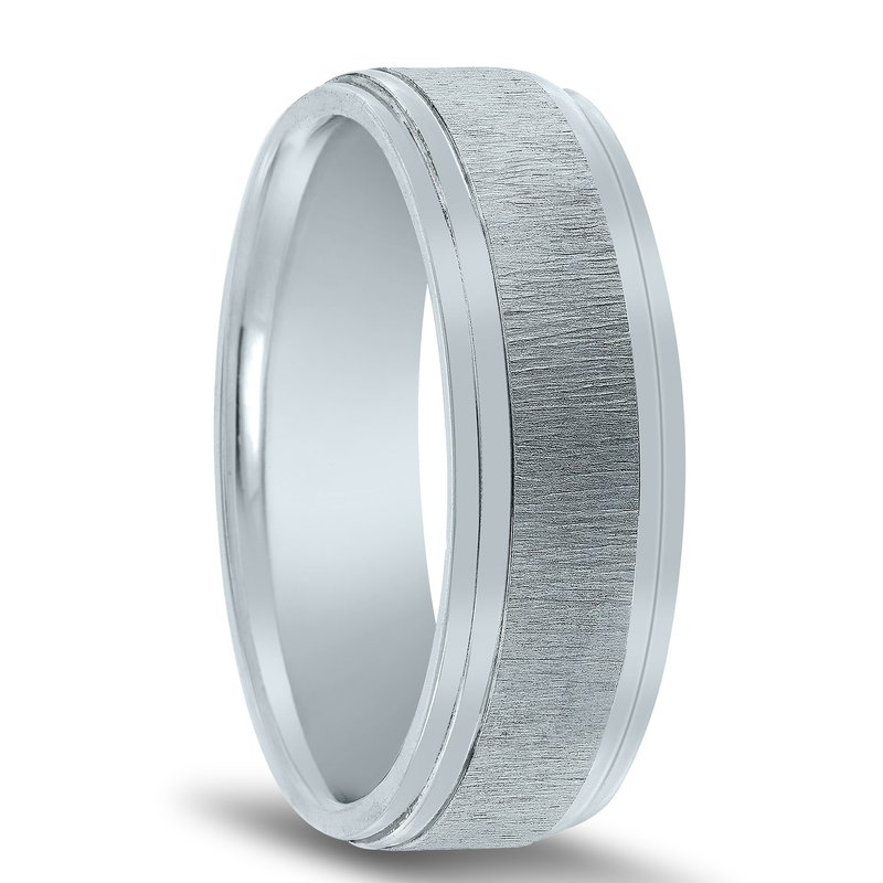 Novell N17208 - Men's Wedding Band with Organic Finish