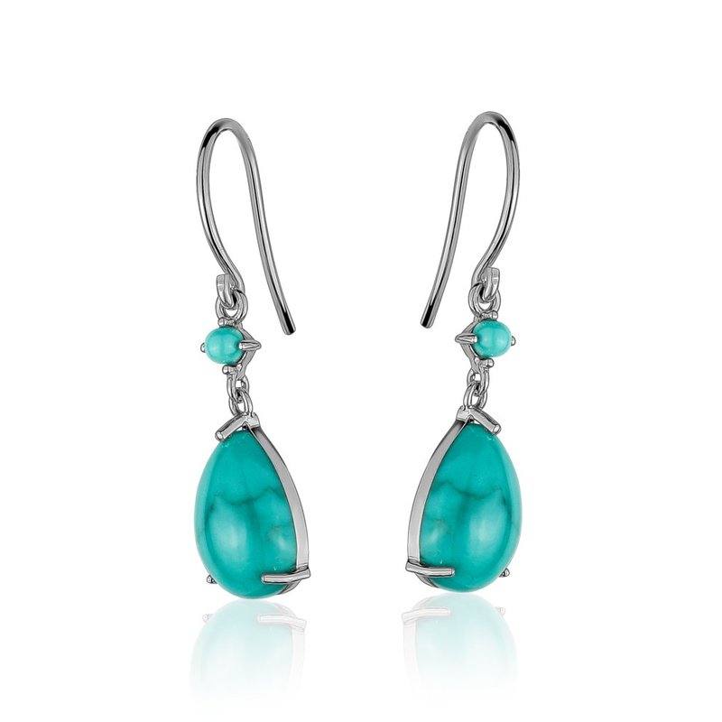 LARUS Jewelry Turquoise Small Drop Earrings