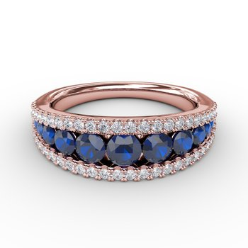 Walk This Way Sapphire and Diamond Ring