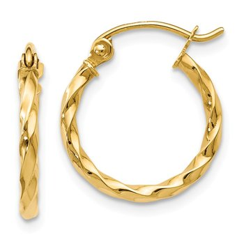 Leslie's 14K Polished Twisted Hoop Earrings