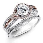 Simon G MR1815 WEDDING SET