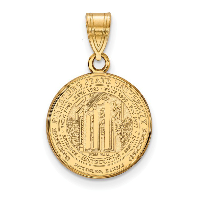 NCAA Gold-Plated Sterling Silver Pittsburg State University NCAA Pendant