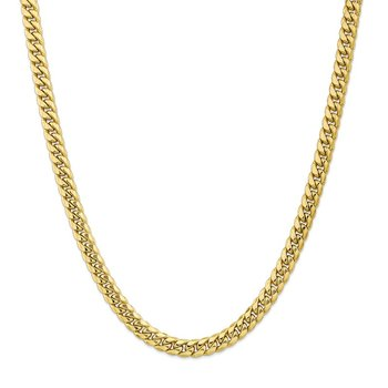 Leslie's 10K 7.3mm Semi-Solid Miami Cuban Chain
