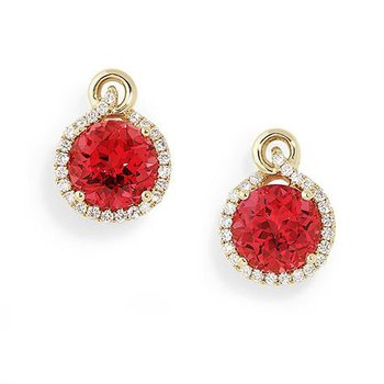 Padparadscha Earrings-CE3067YPD