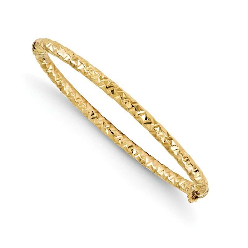 Leslie's Leslie's 14k Polished and Textured Hinged Bangle