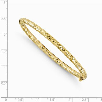Leslie's 14k Polished and Textured Hinged Bangle