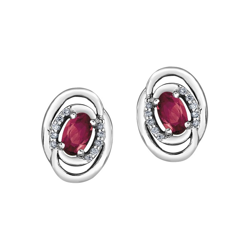 Diamond Days Ruby Earrings