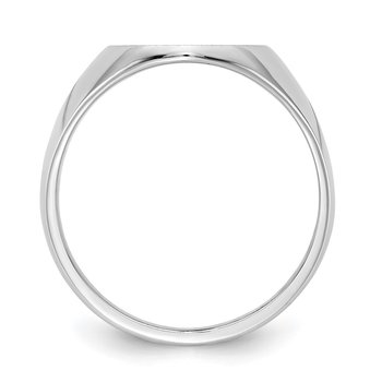 14kw 15.0x12.5mm Closed Back Signet Ring