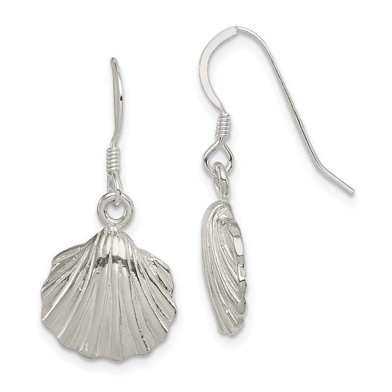 Fine Jewelry by JBD Sterling Silver Shell Earrings