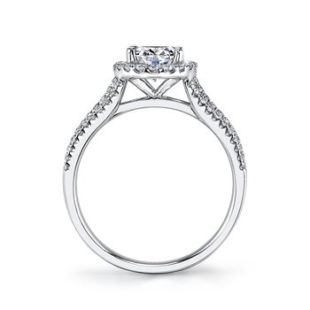 25356 Diamond Engagement Ring 0.59 ct tw