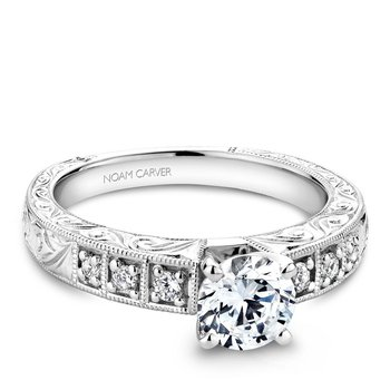 Noam Carver Vintage Engagement Ring B057-01A