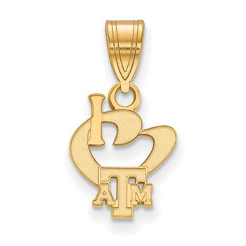 Gold-Plated Sterling Silver Texas A&M University NCAA Pendant