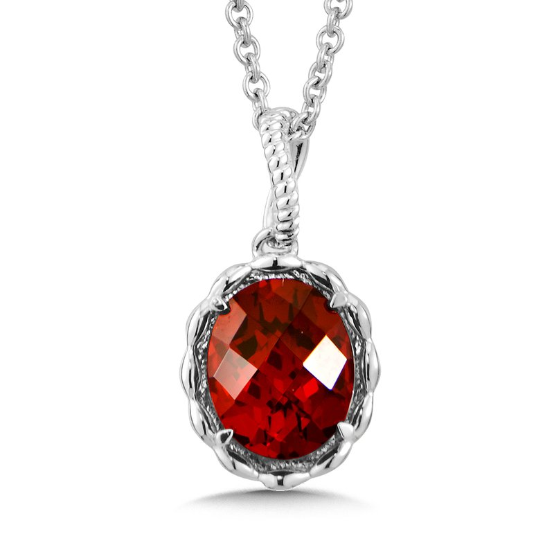 Green brothers jewelers colore sg sterling silver garnet pendant colore sg sterling silver garnet pendant mozeypictures Image collections