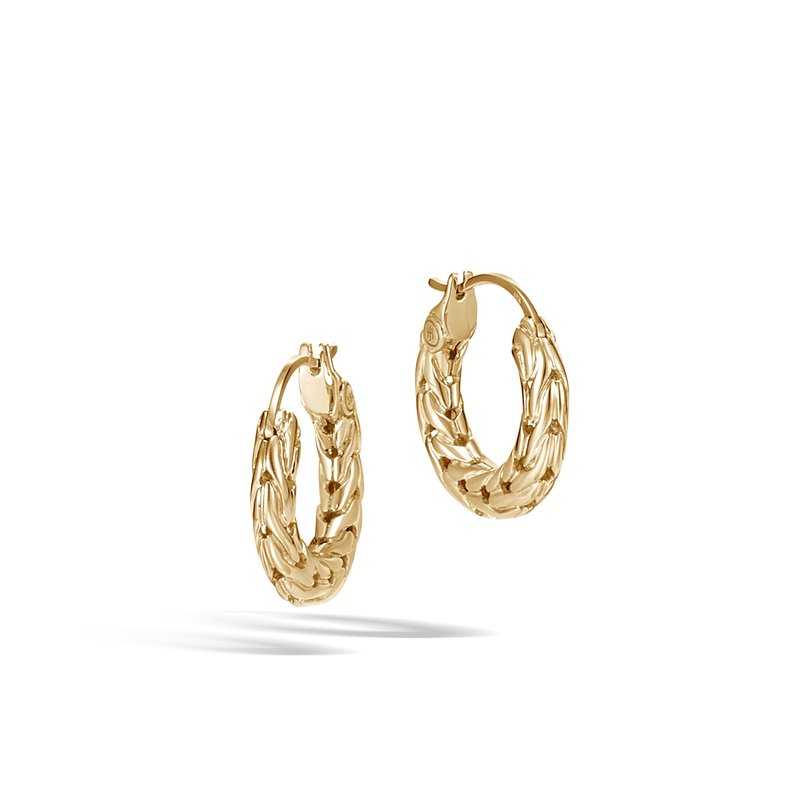 JOHN HARDY Classic Chain Extra Small Hoop Earring in 18K Gold