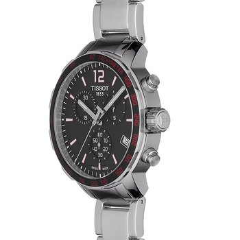 Tissot Quickster Quartz Chronograph Black and Red Dial Men's Watch