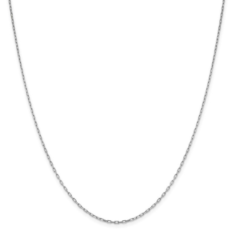 Leslie's Leslie's 14K White Gold 1.6 mm Long Open Cable Link Chain