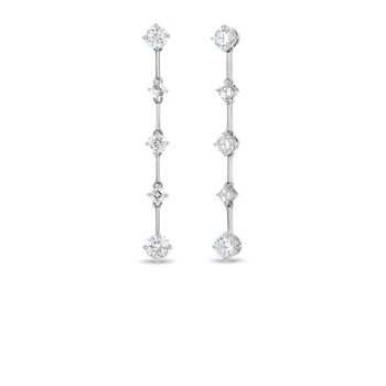 CENTO AND ASSCHER COUTURE EARRINGS