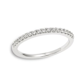 White gold & round diamond band